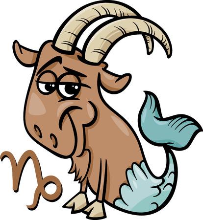 capricornio: Ejemplo de la historieta de Capricornio o de la cabra del mar Horóscopo Signo del Zodiaco