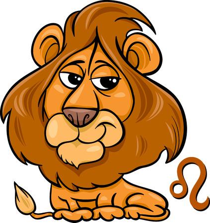 Cartoon Illustration von Leo The Lion oder Tierkreis-Zeichen Standard-Bild - 26073939