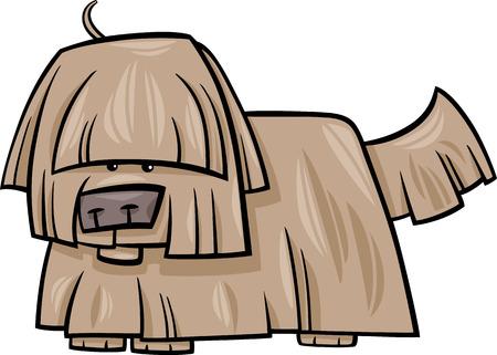 shaggy: Cartoon Illustration of Funny Shaggy Dog Illustration