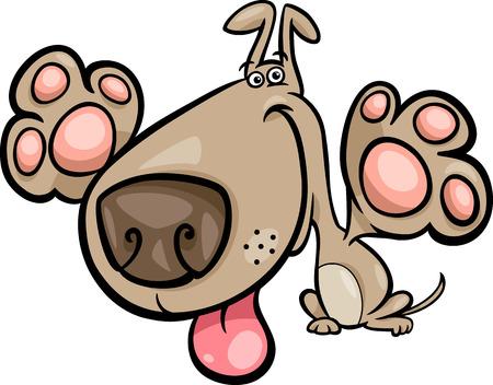 Illustration de bande dessinée de chien espiègle mignonne Banque d'images - 27155452