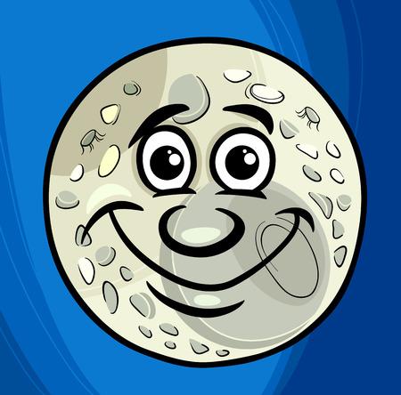Cartoon Humor ilustración del concepto del hombre en la luna Decir o Proverbio