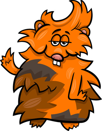 Cartoon Illustration of Funny Guinea Pig Character Illustration