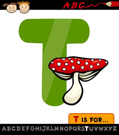 children education: Ejemplo de la historieta de El Capital de la letra T del alfabeto con Toadstool para la Educaci�n Infantil