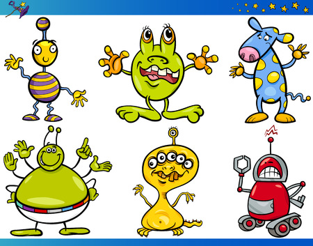 stranger: Cartoon Illustrations Set of Fairytale or Fantasy Funny Characters Illustration