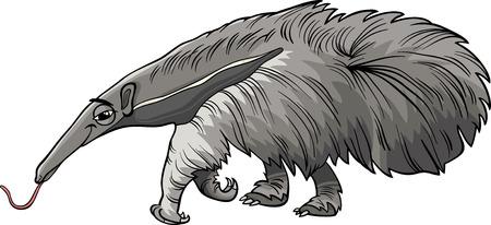 anteater: Cartoon Illustration of Funny Giant Anteater Animal