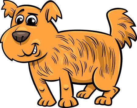 Cartoon Illustration of Cute Shaggy Dog Vector