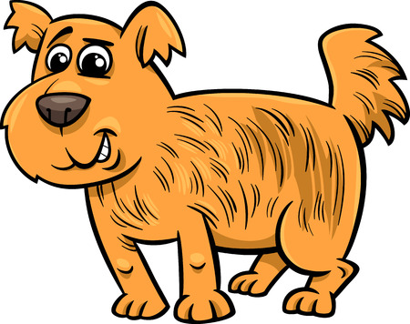 Cartoon Illustration of Cute Shaggy Dog
