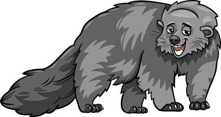 bearcat: Cartoon Illustration of Funny Bearcat Wild Animal