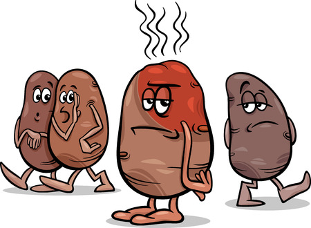 difficult situation: Cartoon Humor Concept Illustration of Hot Potato Saying or Proverb
