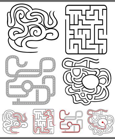 children education: Conjunto de Laberintos Laberintos o diagramas gr�ficos para la Educaci�n Infantil