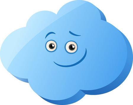 clip art: Cartoon Illustrazione della Cute Nube carattere clip art