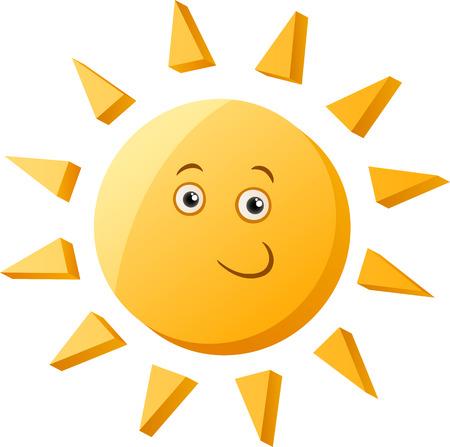 clip art: Cartoon Illustrazione della Cute Sun carattere clip art