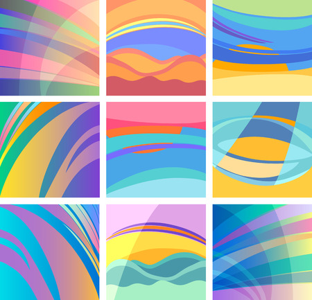 Vector Illustration Set of Abstract Colorful Modern Design Backgrounds