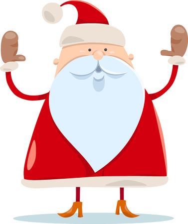 weihnachtsmann lustig: Cartoon Illustration von Nette Weihnachtsmann Weihnachten Charakter