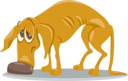 Cartoon Illustration von Sad Homeless Hund Tier Standard-Bild - 33283263
