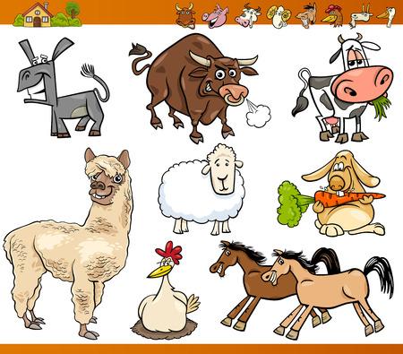재미 농장 동물 캐릭터의 만화 그림 설정