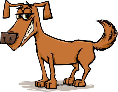 Cartoon Sketch Illustration of Funny Dog Pet Character Vector