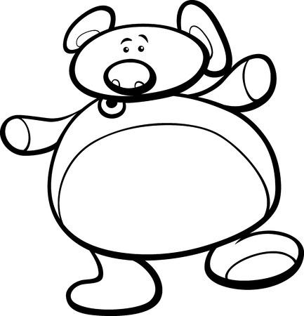 Ilustración Del Personaje De Dibujos Animados Lindo Del Oso De ...