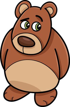 avergonzado: Ilustración de dibujos animados de oso tímido o Teddy