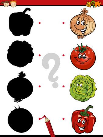 preescolar: Ejemplo de la historieta de la sombra Educaci�n juego de las coincidencias de para ni�os en edad preescolar