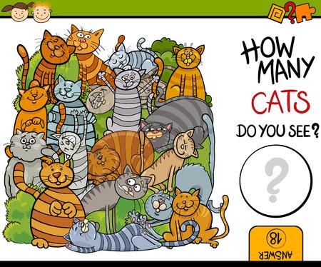 jeu: Cartoon Illustration de l'�ducation comptage jeu pour enfants d'�ge pr�scolaire