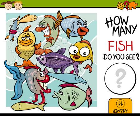 教育ゲーム就学前の子供のカウントの漫画イラスト