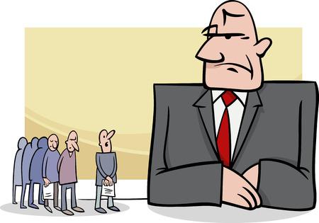 banker: Concept Cartoon Illustration of People in Bank
