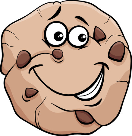 shortbread: Cartoon Illustration of Cookie with Chocolate Clip Art