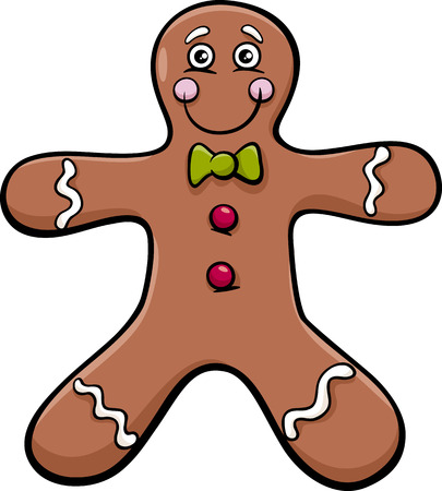 gingerbread man: Cartoon Illustration of Gingerbread Man Cookie Clip Art