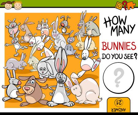 matemáticas: Ejemplo de la historieta de Educaci�n Contando juego para ni�os en edad preescolar