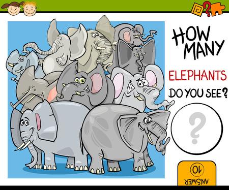 Cartoon Illustratie van Onderwijs Counting Game voor kleuters Stockfoto - 36415840
