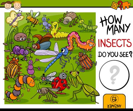 matematicas: Ejemplo de la historieta de Educaci�n Contando juego para ni�os en edad preescolar
