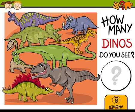 number cartoon: Cartoon Illustration of Education Counting Game for Preschool Children Illustration