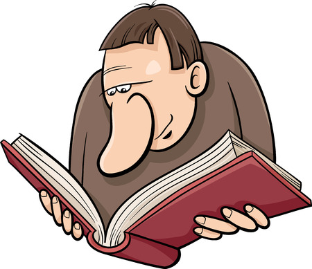 lexicon: Cartoon Illustration of Reader with Book