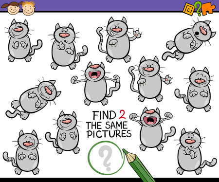 preliminary: Cartoon Illustration of Finding the Same Picture Educational Game for Preschool Children