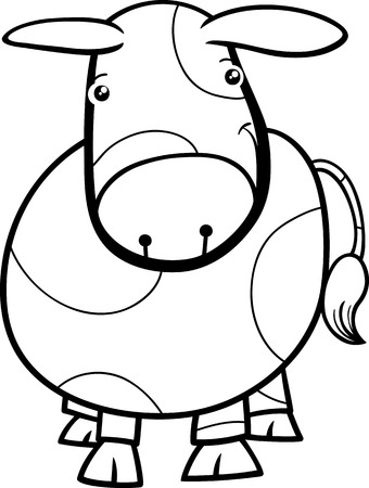 Black And White Cartoon Illustration Of Cute Baby Pig Or Piglet ...
