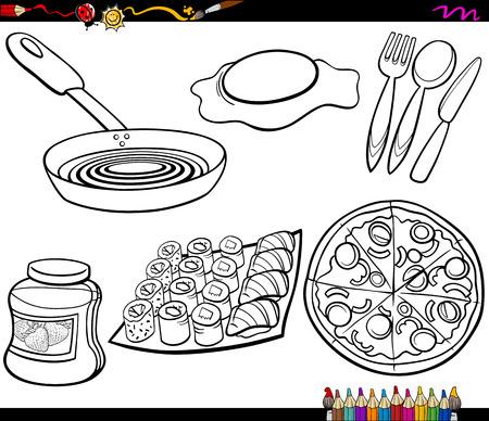 Cartoon Illustrazione Di Utensili Da Cucina Forchetta E Cucchiaio ...