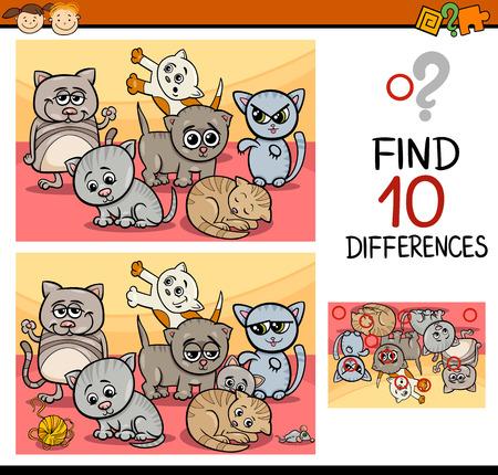 kinder: Ejemplo de la historieta de encontrar diferencias juego educativo para ni�os en edad preescolar