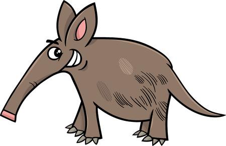 aardvark: Cartoon Illustration of Funny Aardvark Animal Character