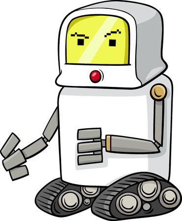 science fiction: Cartoon illustratie van grappige Robot Science Fiction Karakter