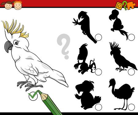 preescolar: Ejemplo de la historieta de la sombra Educación juego de las coincidencias de para niños en edad preescolar