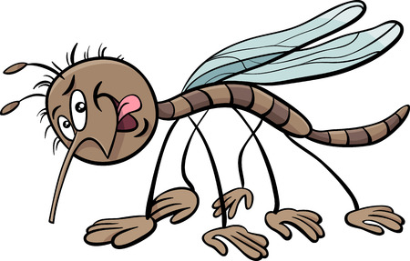 insect mosquito: Cartoon Illustration of Mosquito Insect Character