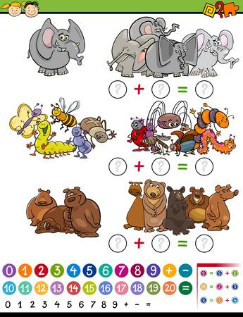 matematica: Ejemplo de la historieta de Educación Matemática Cálculo juego por niños en edad preescolar