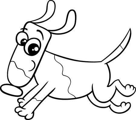 De Dibujos Animados Dibujo Ilustración De Correr Perro O Cachorro De ...