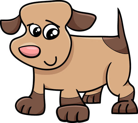 cute dog: Cartoon Illustration of Cute Little Spotted Dog or Puppy Illustration