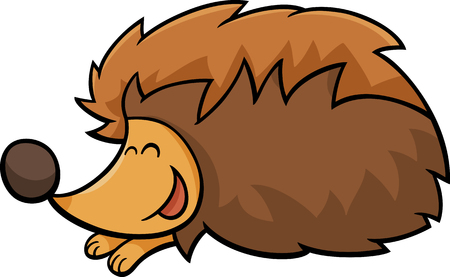 hedgehog: Cartoon illustration of Cute Hedgehog Animal Character