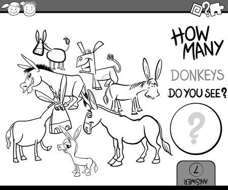 burro: Ejemplo de la historieta Educaci�n Juego Contando por un libro para colorear con Burros