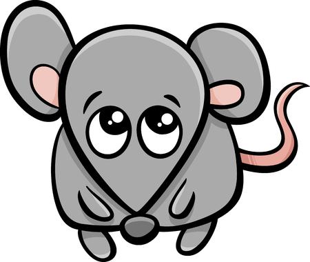 mouse animal: Cartoon Illustration of Cute Little Mouse Animal Character Illustration