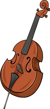 double bass: Cartoon Illustration of Double Bass Musical Instrument Clip Art Illustration