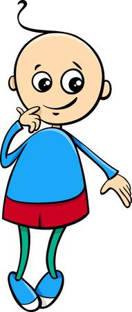 little boy: Cartoon Illustration of Cute Little Boy Character